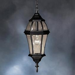 Townhouse Outdoor Ceiling Pendant in Painted Black