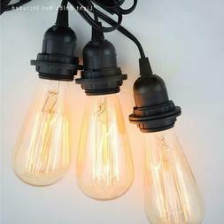 Triple Socket Black Pendant Light Lamp Cord for Lanterns, 19