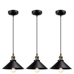 LEONLITE UL-Listed Industrial Hanging Pendant Light, Rustic