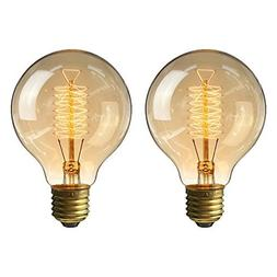 KINGSO Vintage Edison Bulb 60W Incandescent Antique Dimmable