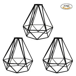 Lamp Guard, Frideko 3 Pack of Vintage Industrial DIY Black M