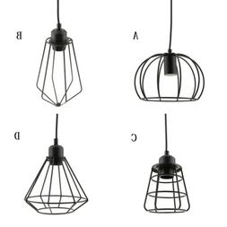 Vintage Lamp Cage Pendant Light Shade Lamps Lighting Ceiling