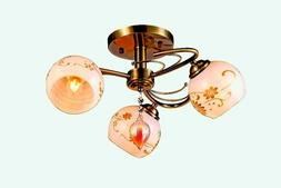 Vintage Modern Fixture Ceiling 3 Light Lighting Glass Pendan