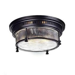 Ecopower Vintage Oil Rubbed Bronze Metal Glass Ceiling Light