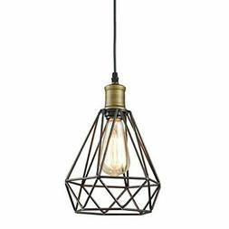 YOBO Lighting Vintage Oil Rubbed Bronze Polygon Wire Pendant