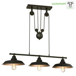 Westinghouse 3-Light Pendant - Pulley, Oil Rubbed Bronze - I