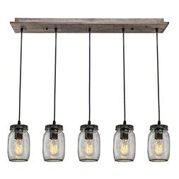 LNC A02983 Adjustable Mason Jar Kitchen Island Lighting Mult